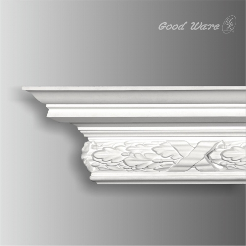 Polyurethane carved cornice moulding for ceiling