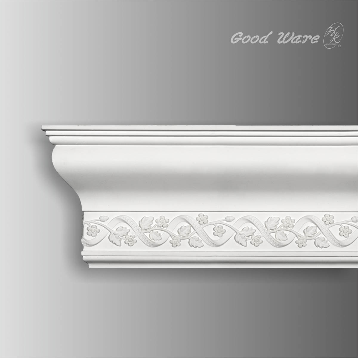 large floral polyurethane crown moldings