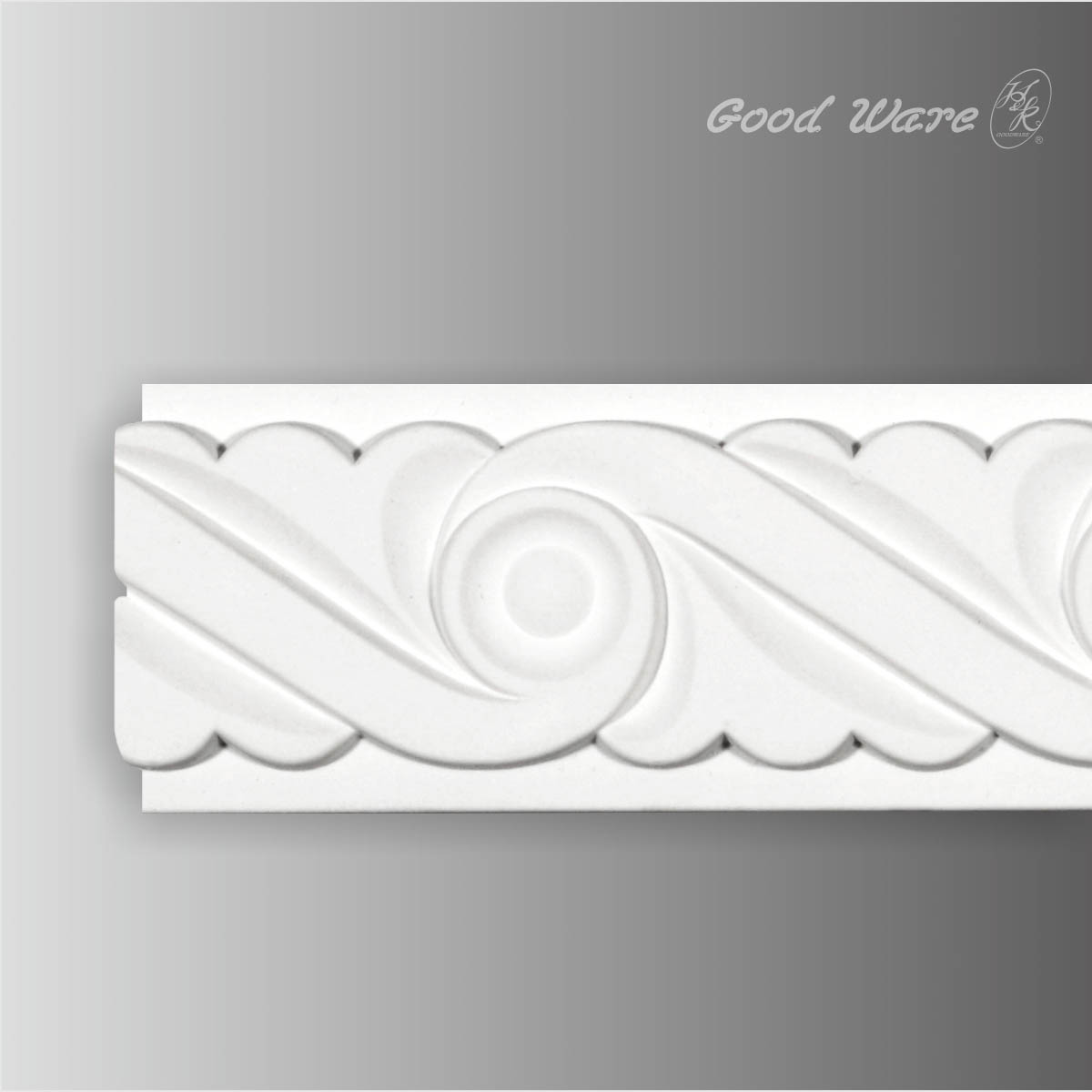 Polyurethane white decorative chair rail moulding