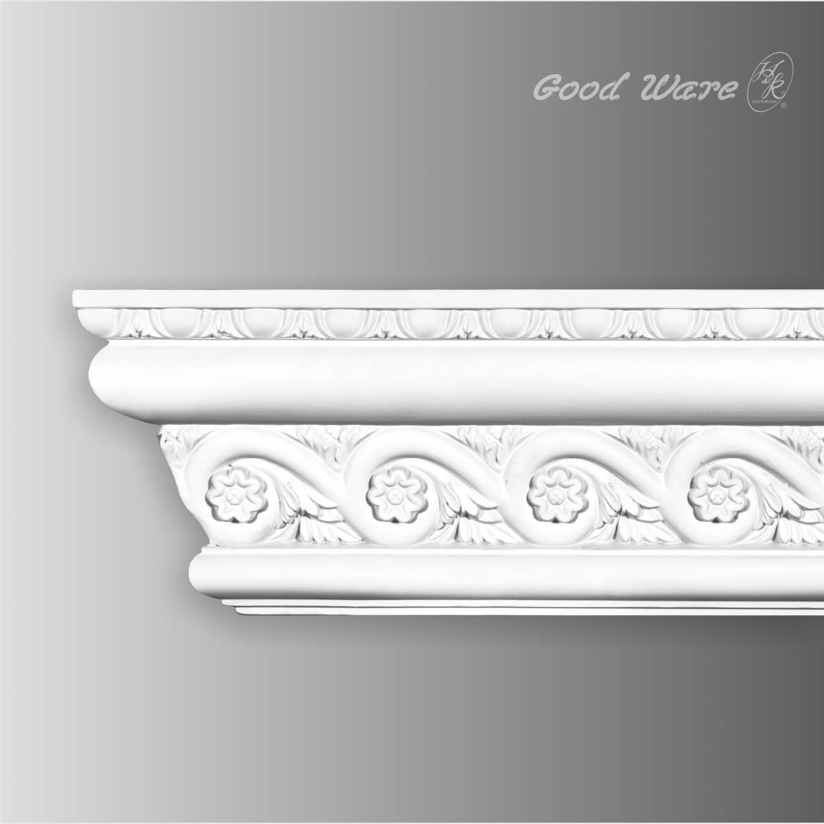 Polyurethane chair rail wall paneling trim