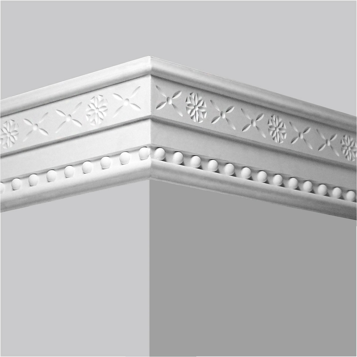 Bead decor polyurethane chair rail molding