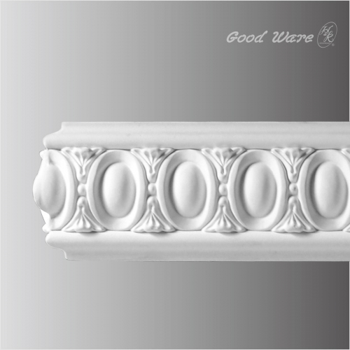 Polyurethane egg and dart chair rail molding