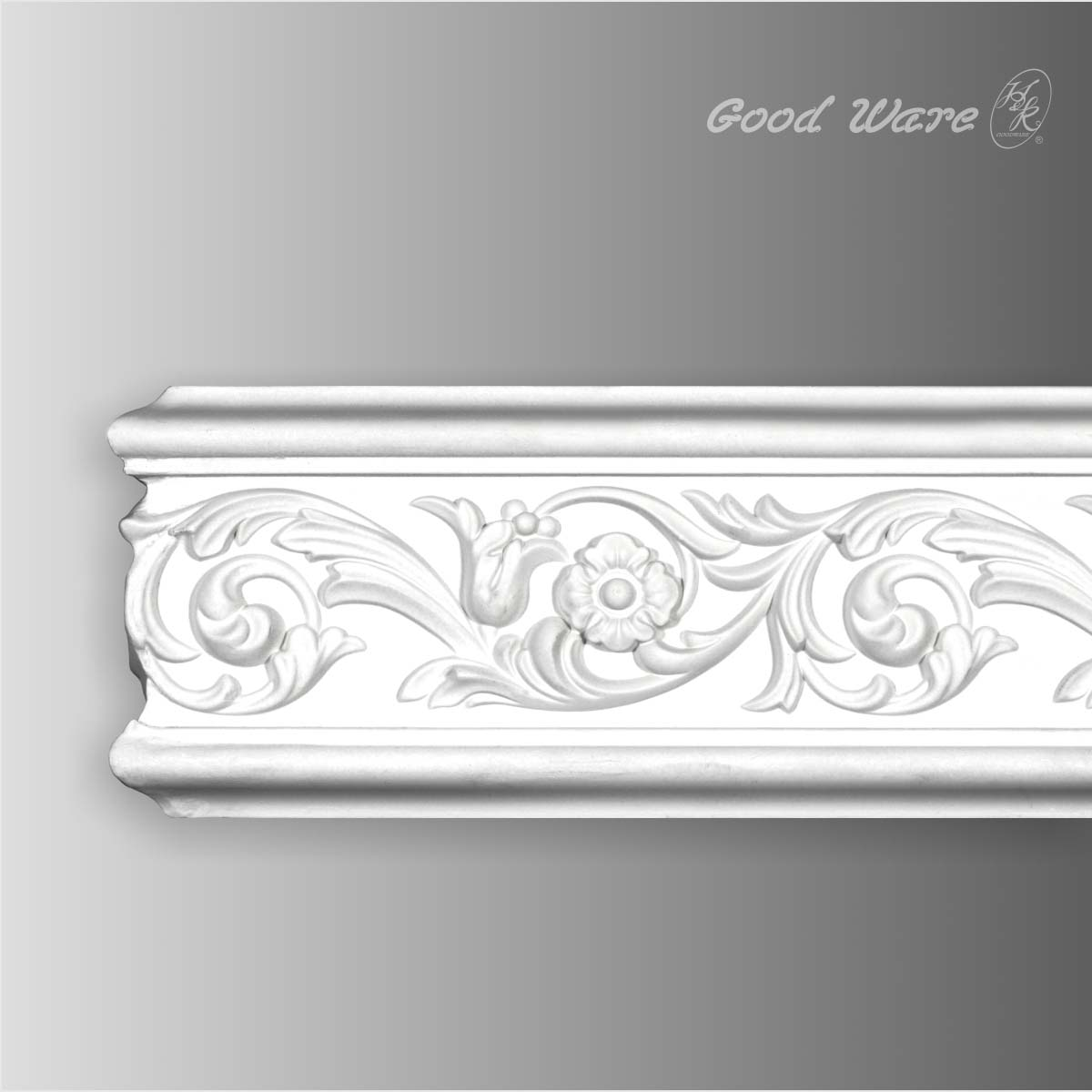 Polyurethane decorative wall chair rail molding