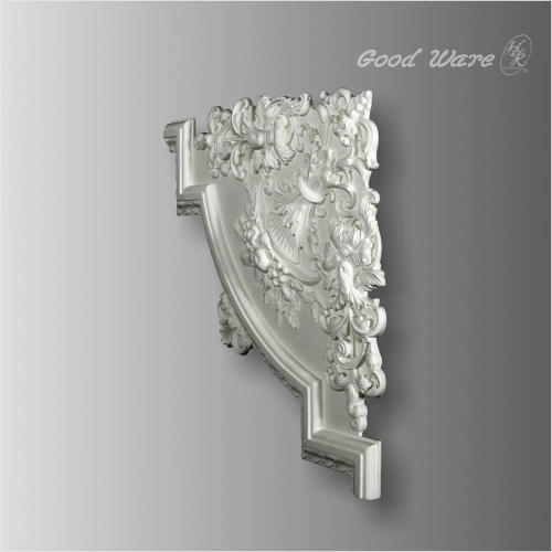 Ornamental decorative panel corner moulding