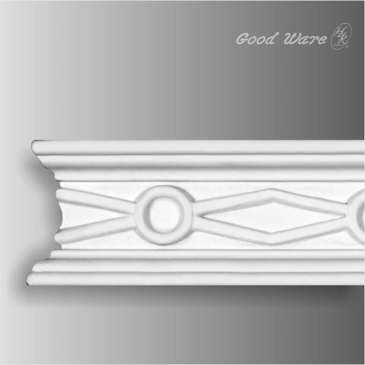 Polyurethane chair rail decorative wall molding