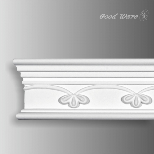 Polyurethane decorative mouldings for walls
