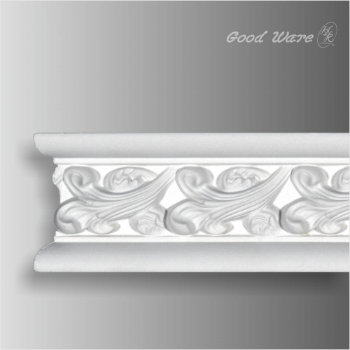 Polyurethane decorative mouldings for wardrobes