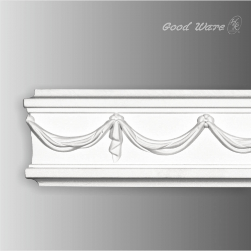 Polyurethane decorative mouldings for fireplaces