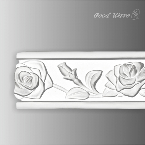 Decorative wall chair rail trim moulding