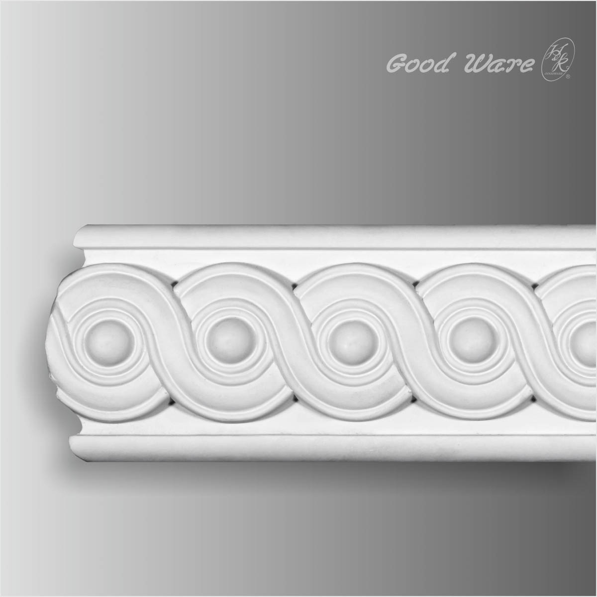 Polyurethane white decorative chair rail for sale