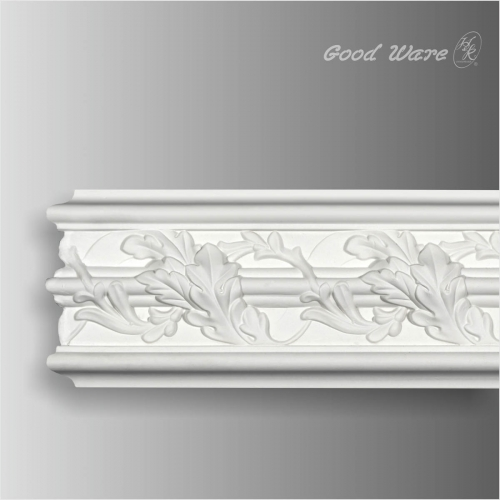 Decorative chair rail white wall molding