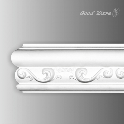 Polyurethane decorative bathroom chair rail