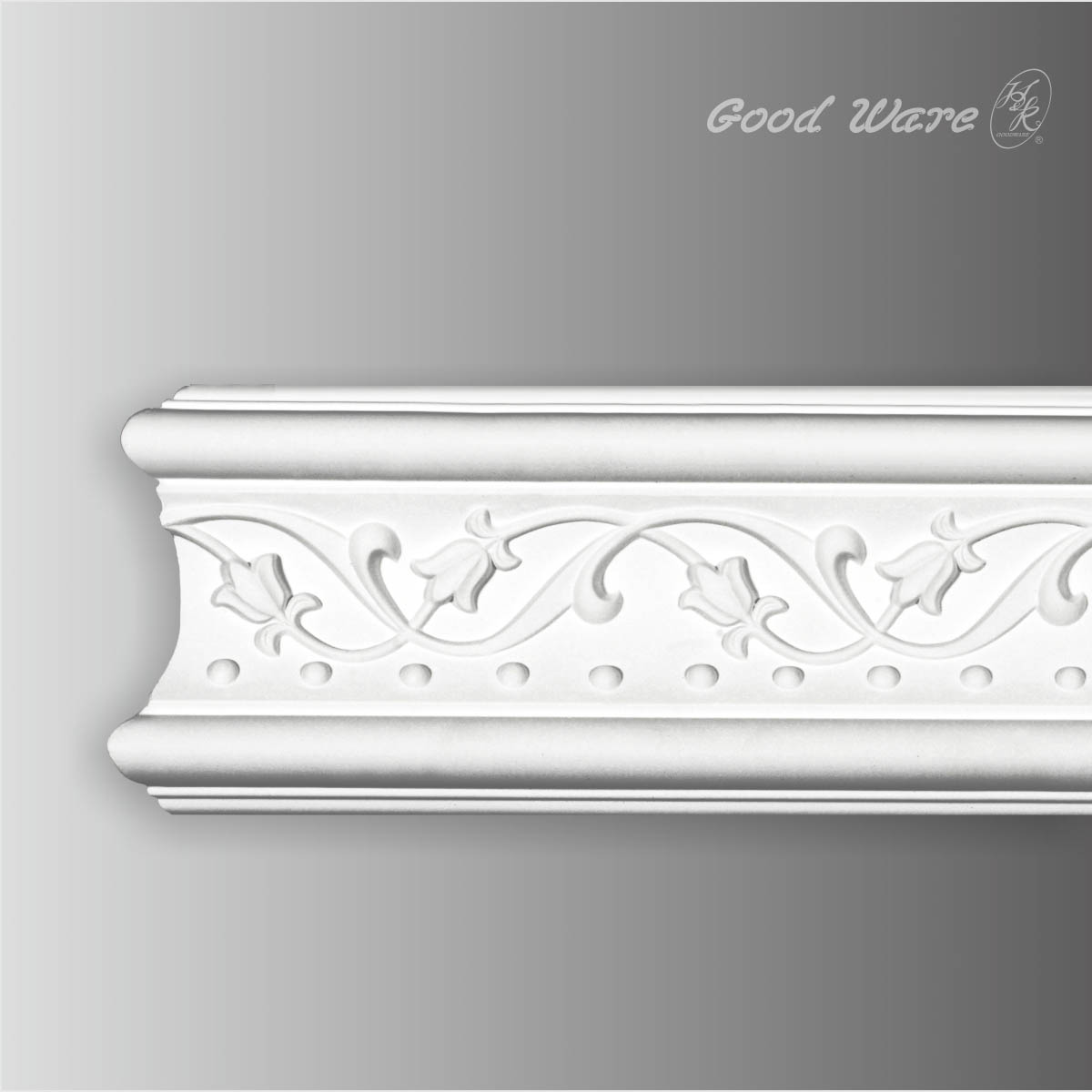 Decorative polyurethane white chair rail