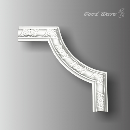 Decorative panel corner molding trim