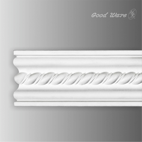Polyurethane rope chair rail molding