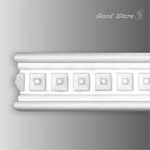 Decorative chair rail dentil moulding