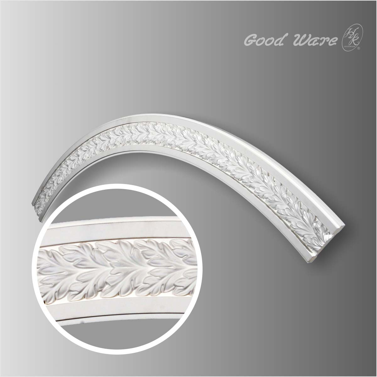 Polyurethane acanthus leaves ceiling ring molding