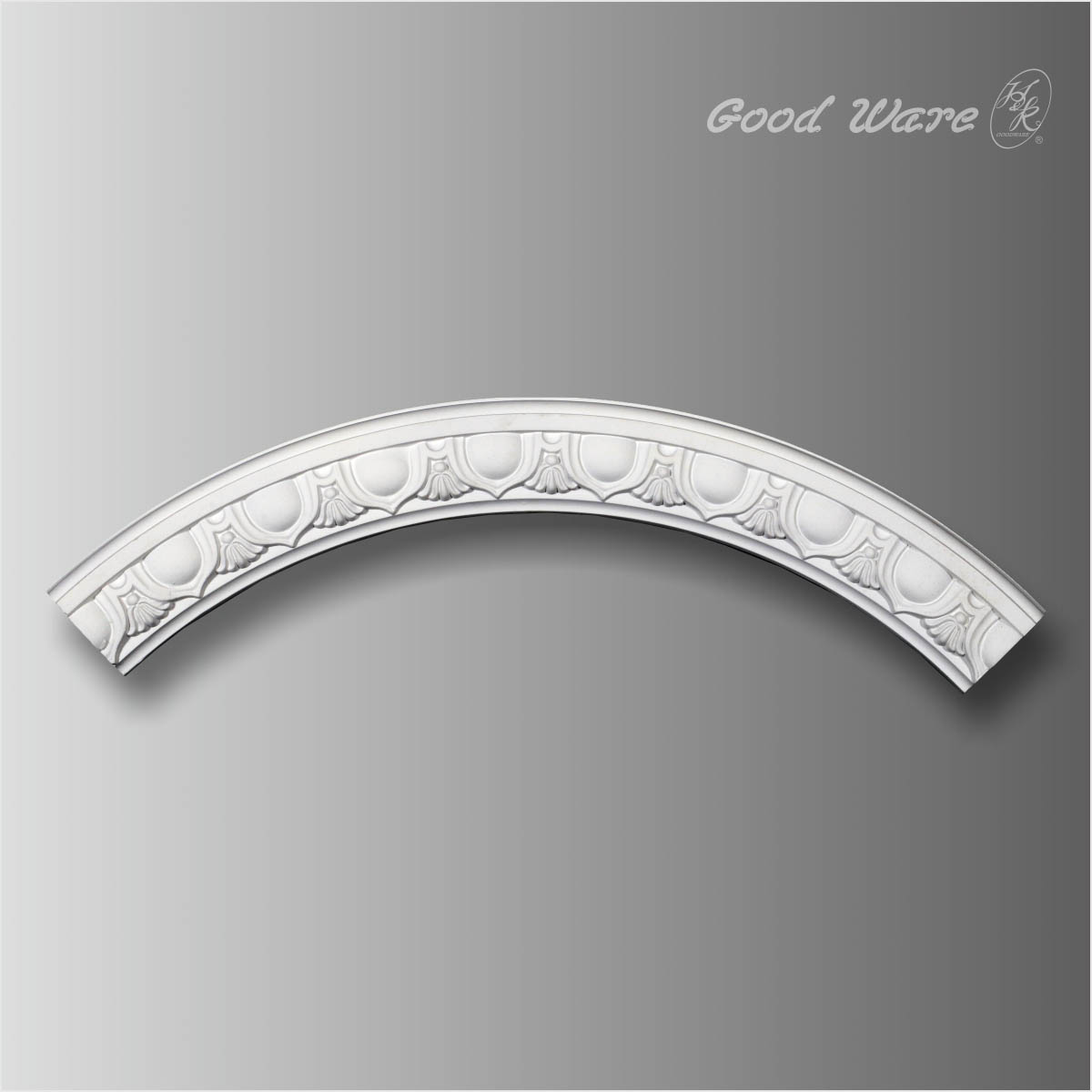 Egg and dart round ceiling moulding