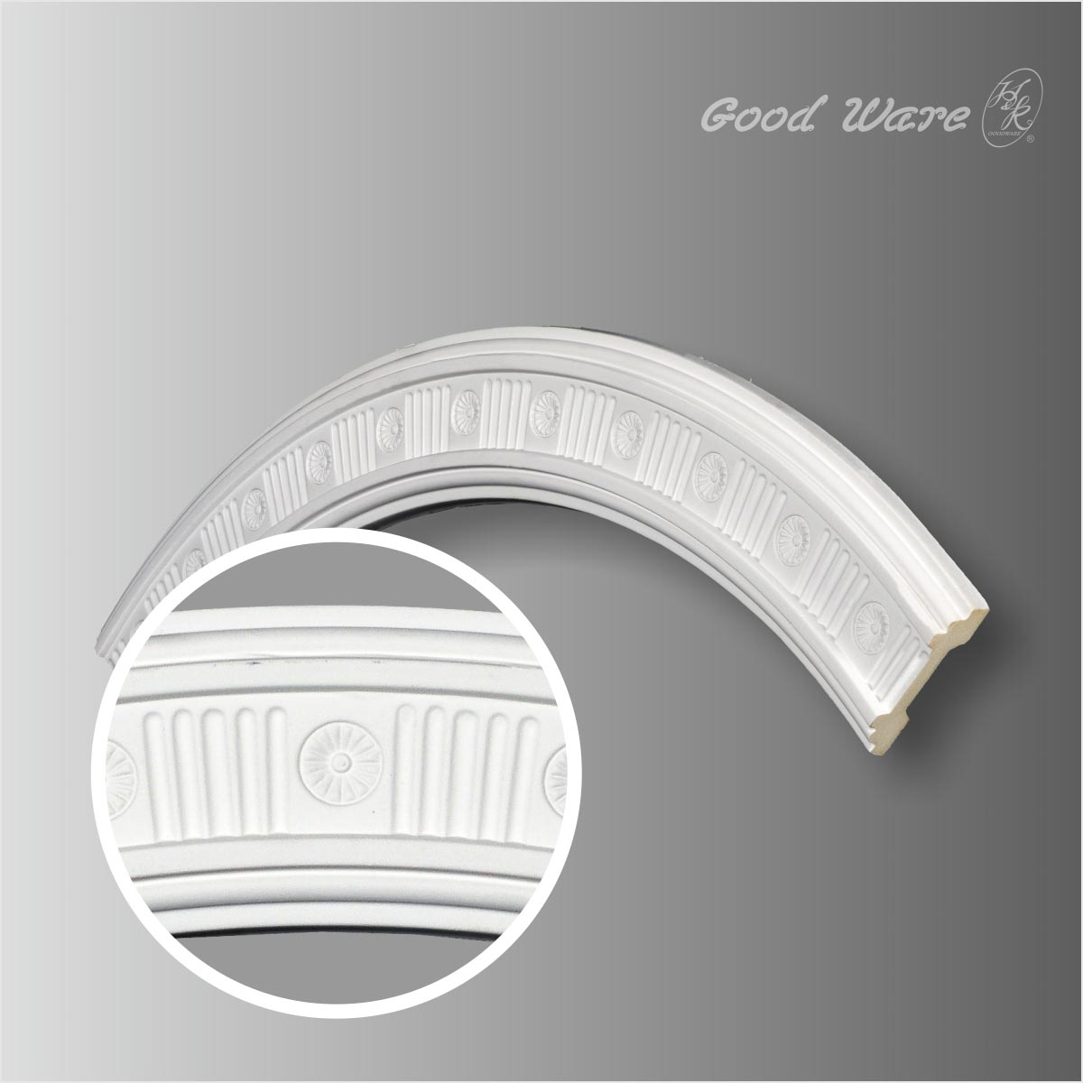 Fluted ceiling ring molding for sale
