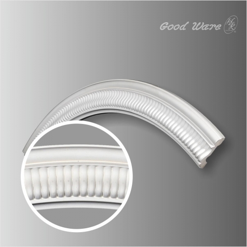 Polyurethane decorative circular trim molding