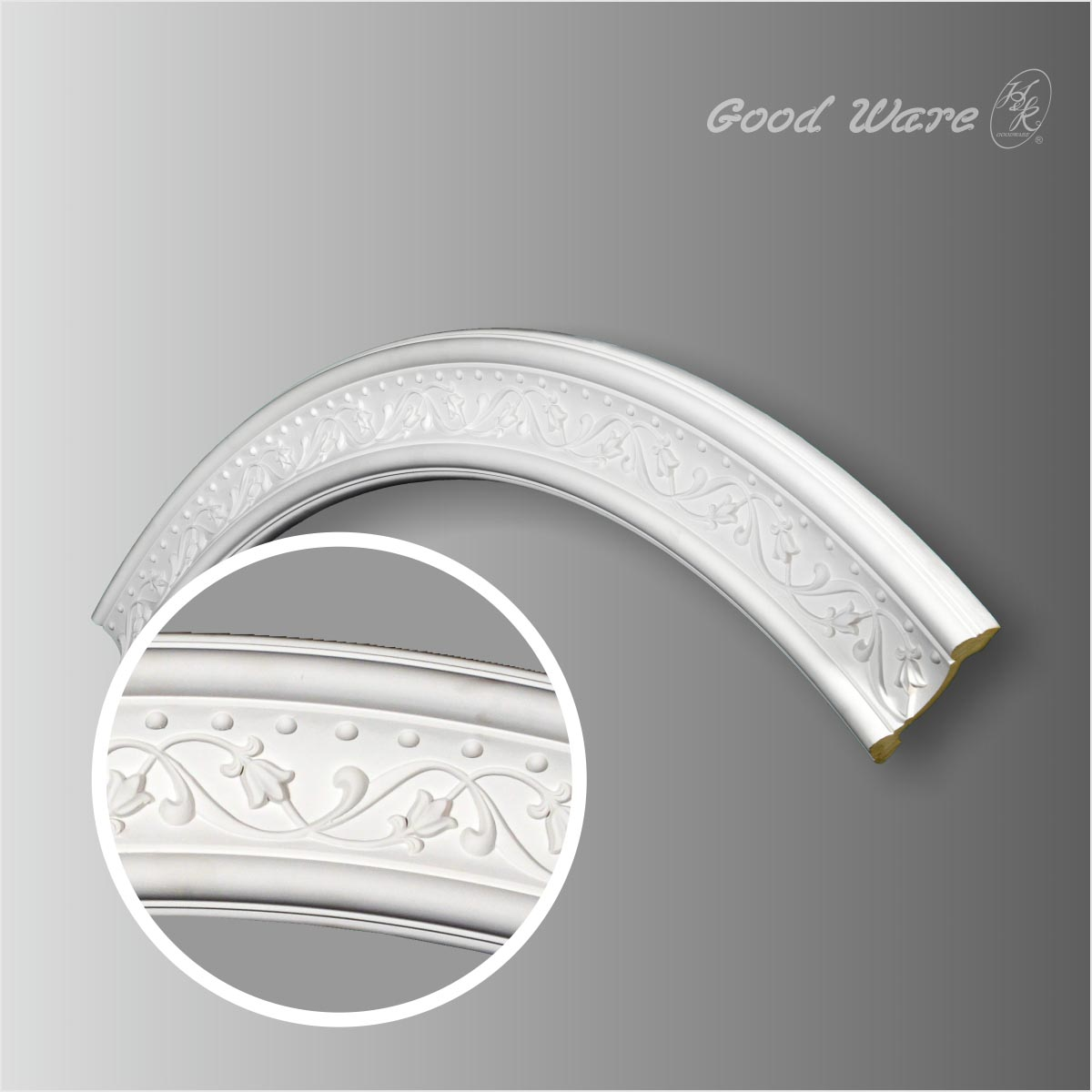 PU decorative circle ceiling moulding