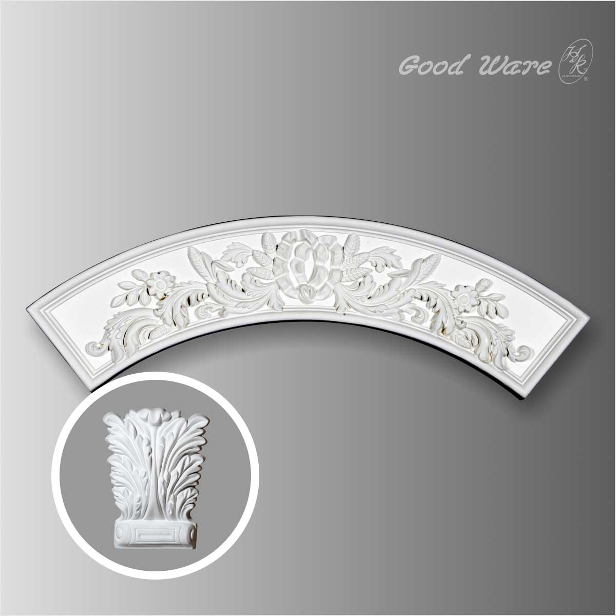 Polyurethane floral ceiling ring for sale