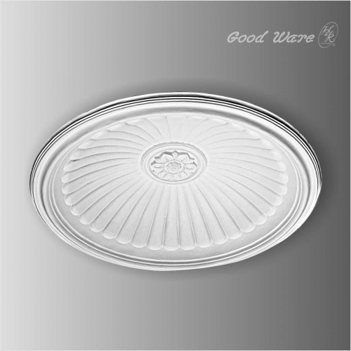 Polyurethane decorative dome for ceiling light