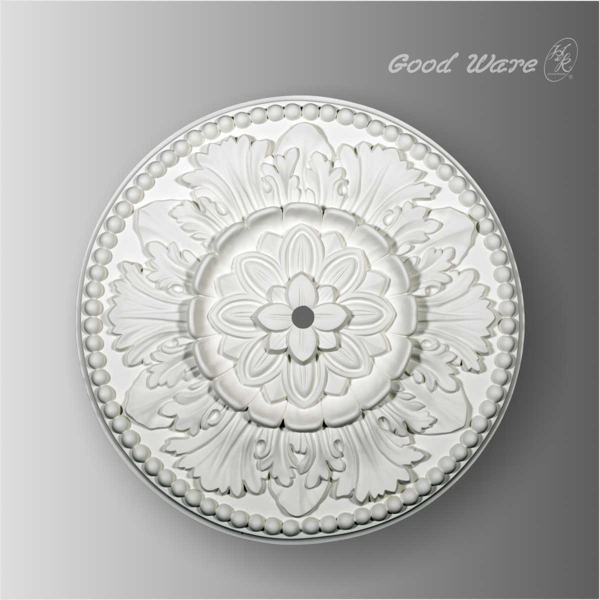 Polyurethane rosette medallion for ceiling