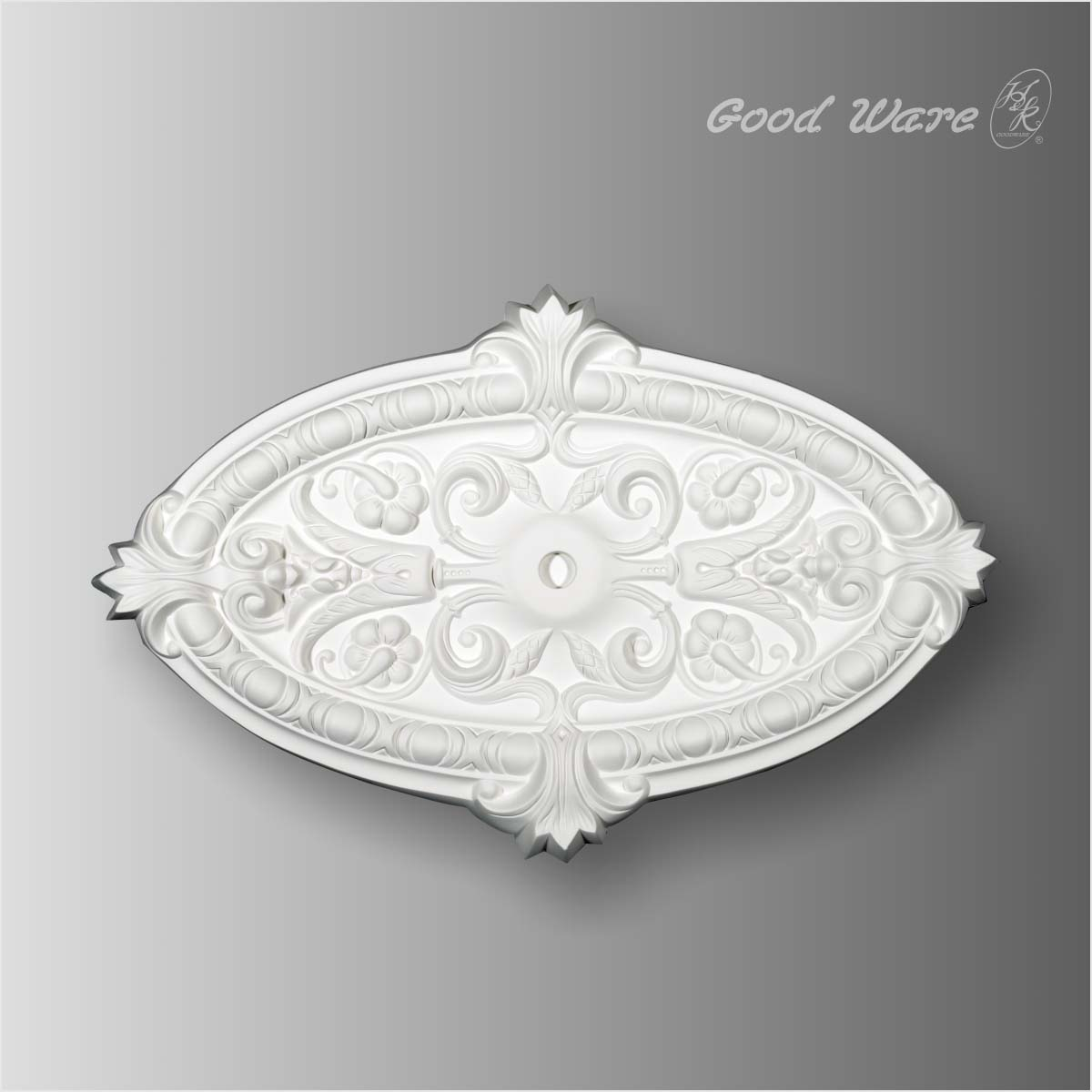 Polyurethane oval ceiling medallion for sale