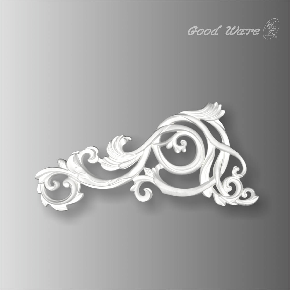 Polyurethane white wall decor molding