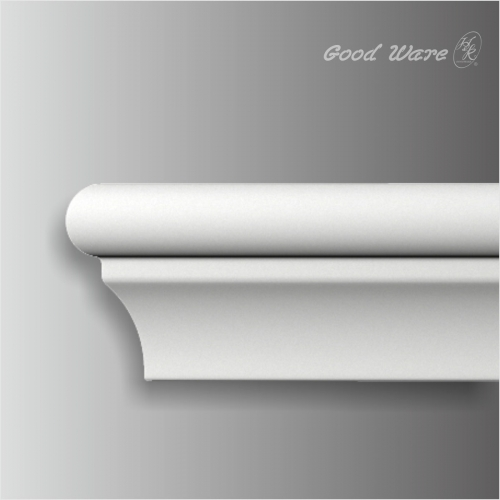 Polyurethane small chair rail white trim