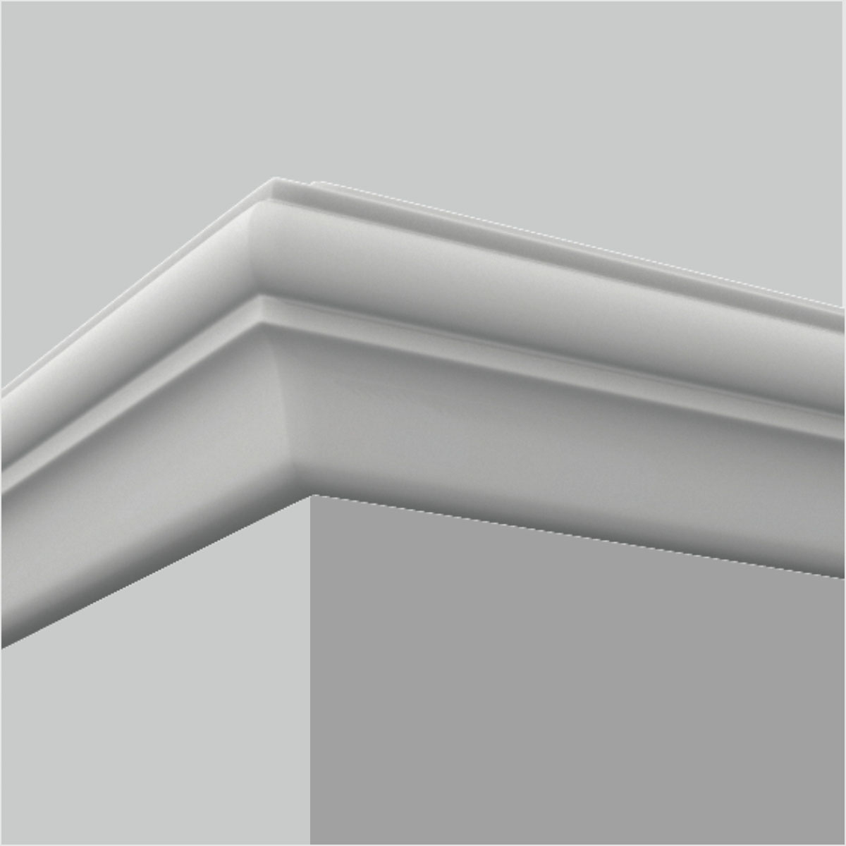 Polyurethane small plain chair rail in dining room