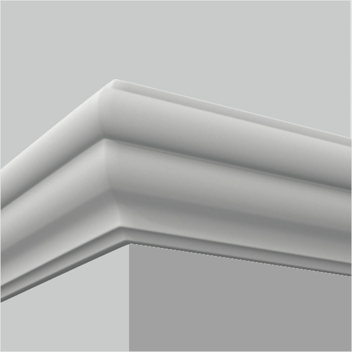 Polyurethane simple white chair rail dining room