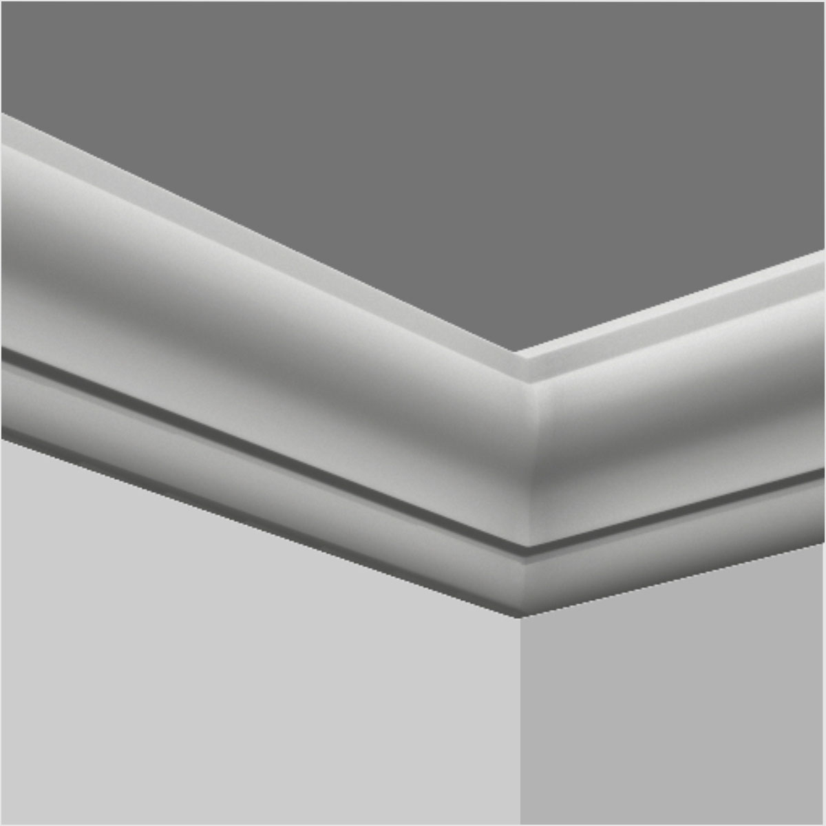 Polyurethane chair rail bathroom molding