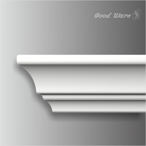 Polyurethane plain living room chair rail molding