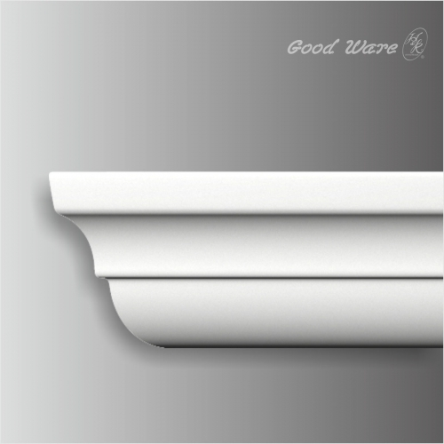 Polyurethane plain crown molding and chair rail