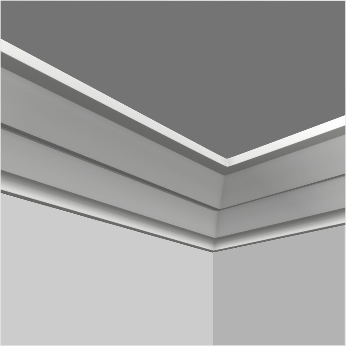 PU contemporary crown moulding kitchen