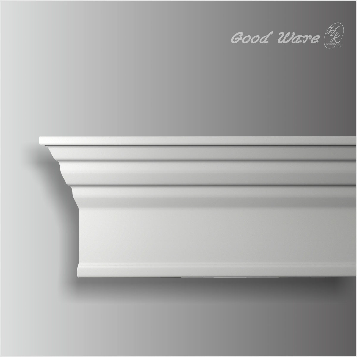 Polyurethane plain crown moulding for cabinets
