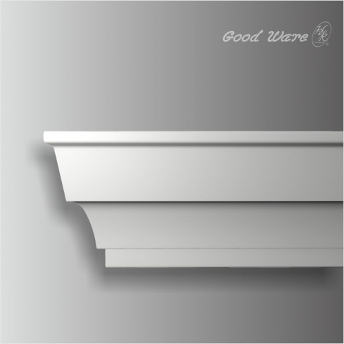 Polyurethan plain crown moulding kitchen cabinets