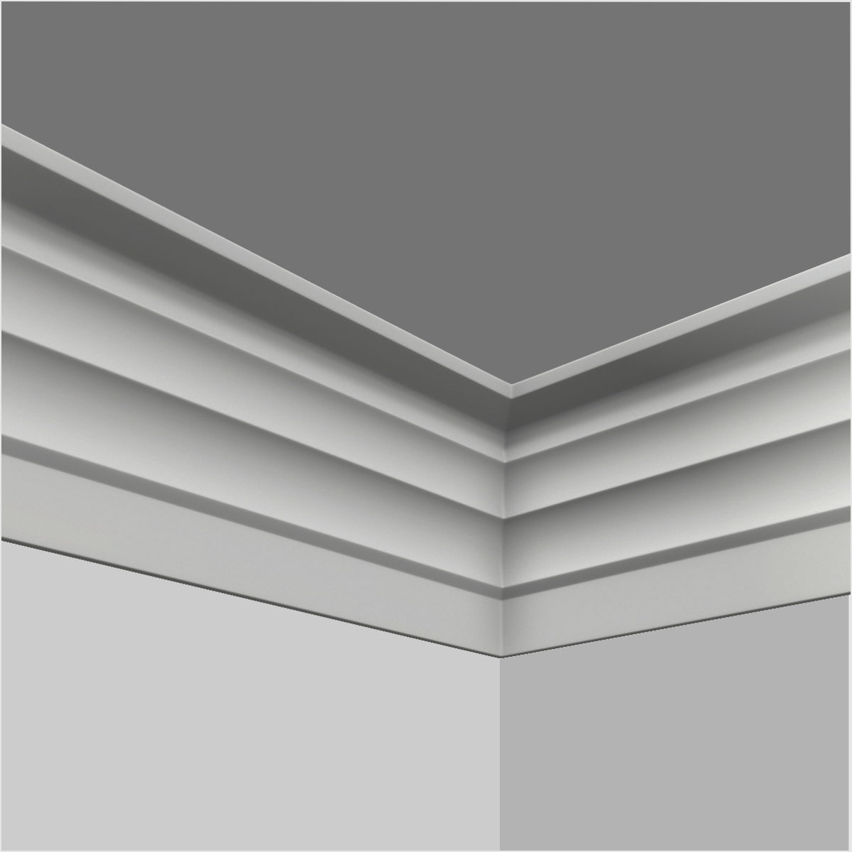 Polyurethane crown cornice moulding supply