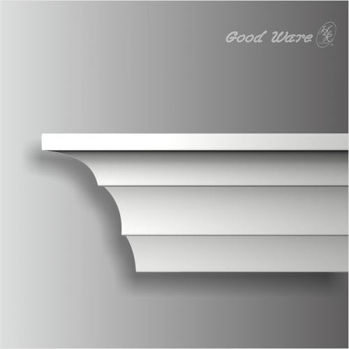 Polyurethane white contemporary crown molding