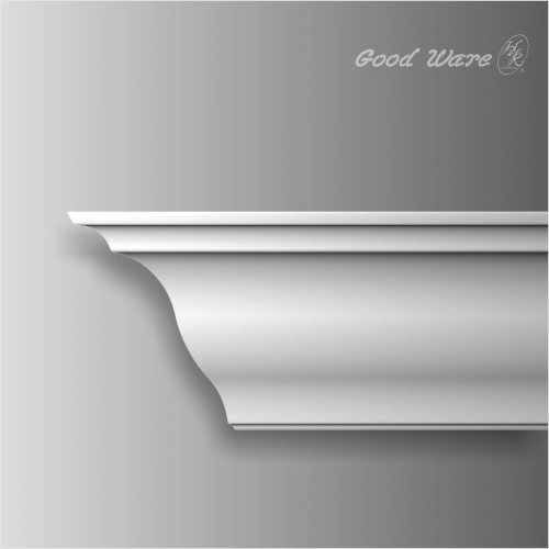 Polyurethane simple 6 inch crown molding