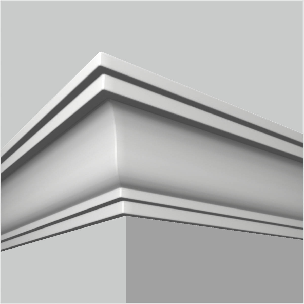 pu plain contemporary crown molding