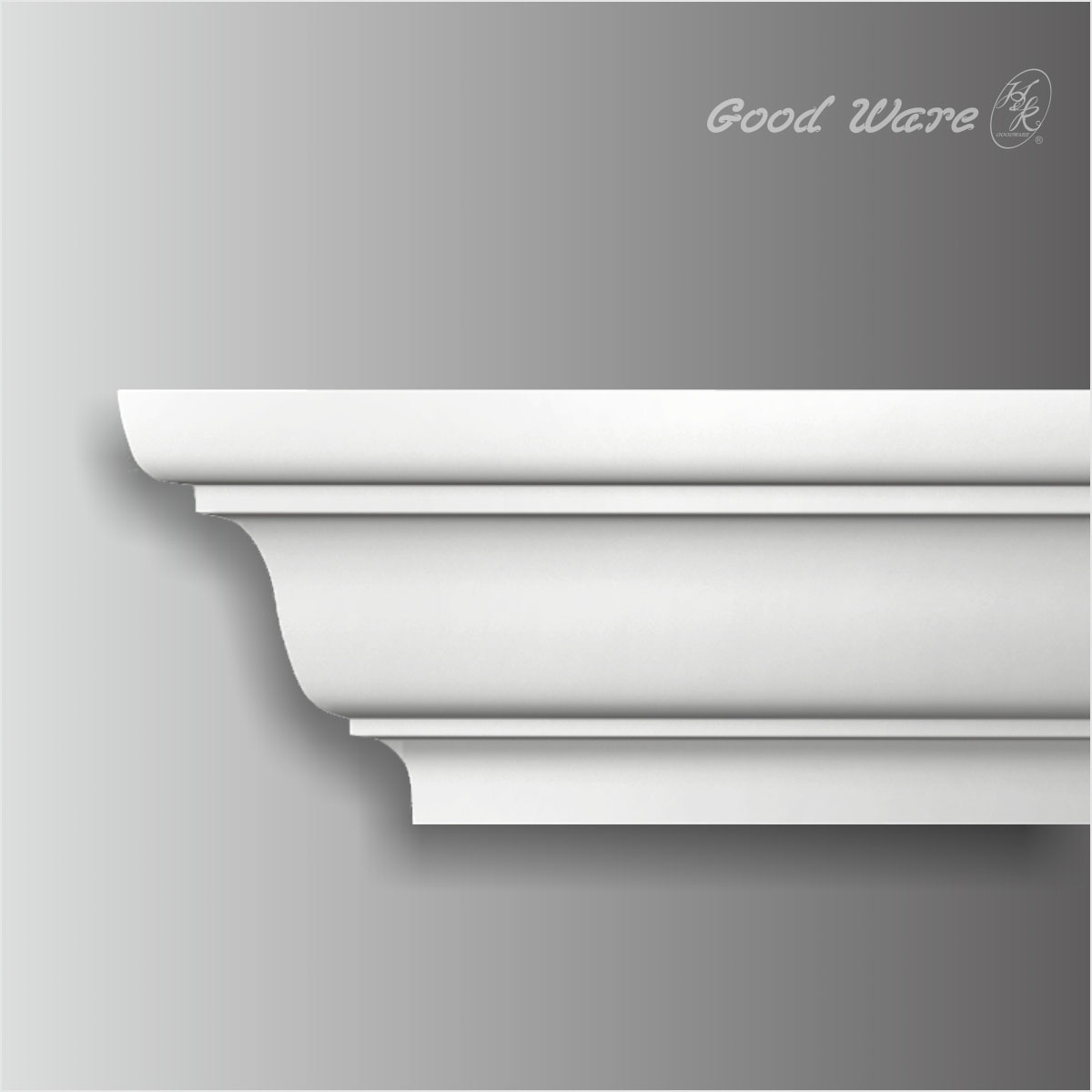 white polyurethane modern crown moulding