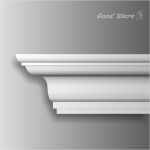 HK-315 polyurethane plain kitchen crown molding