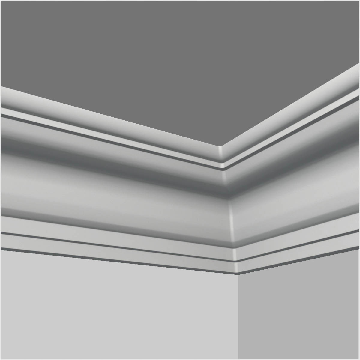 polyurethane plain kitchen crown molding