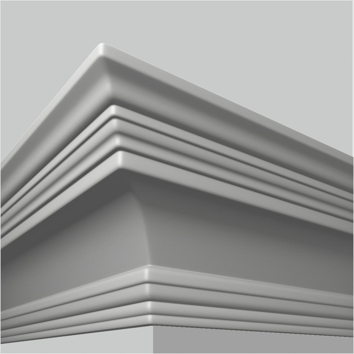 Architectural contemporary ceiling molding