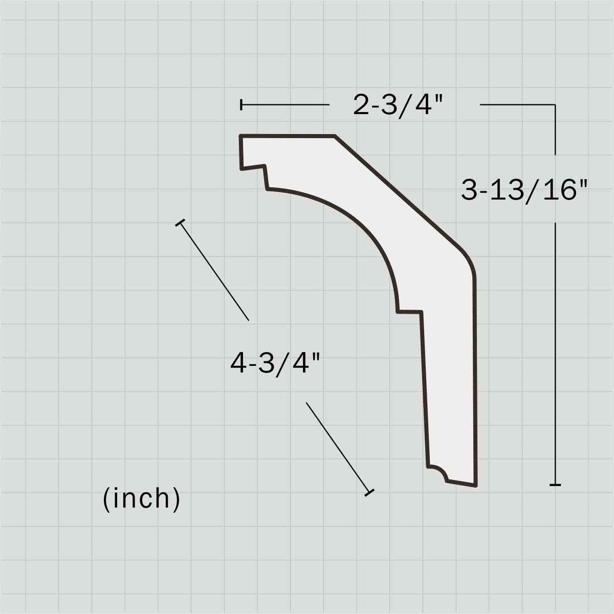 Elegant wall crown molding for sale