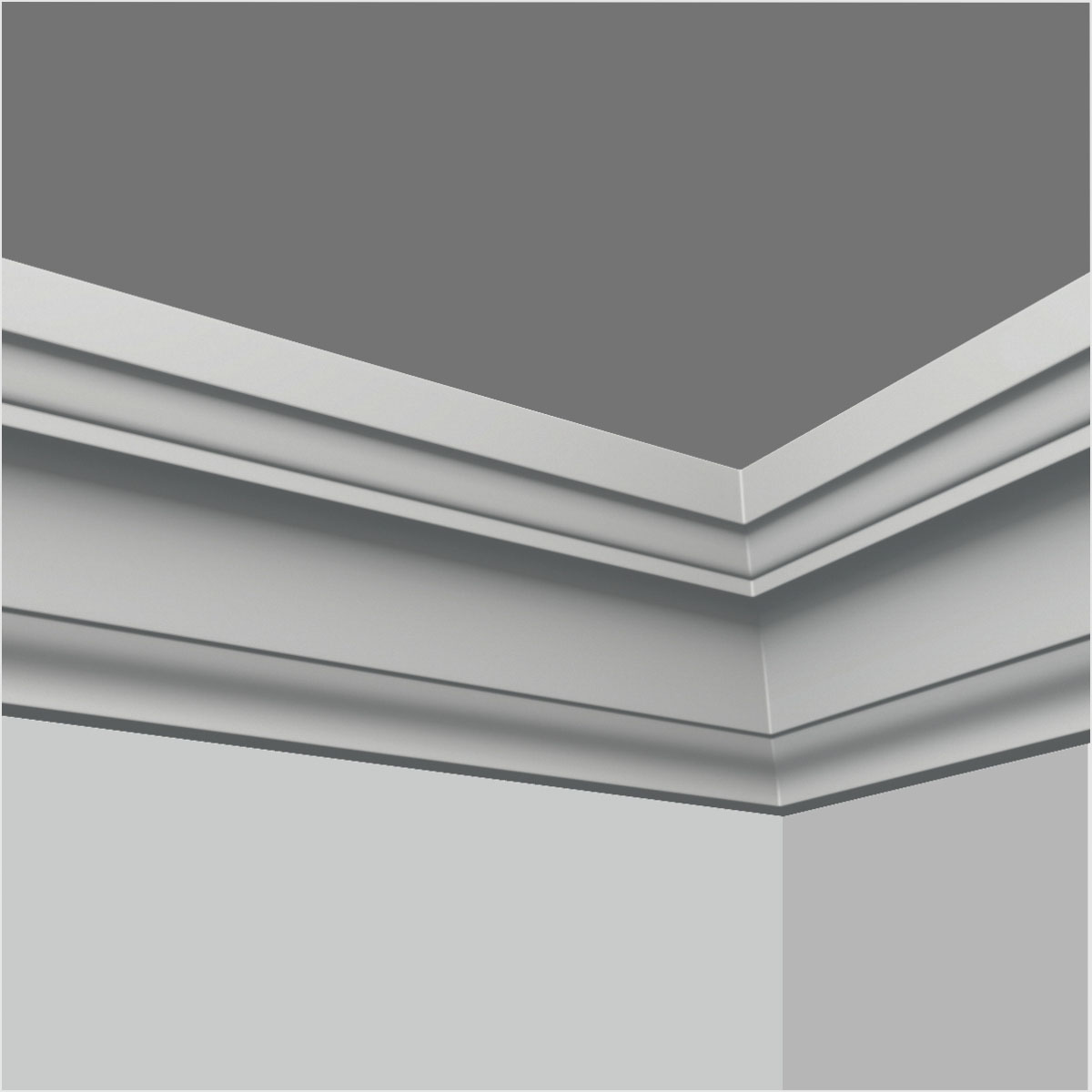 Polyurethane smooth crown moulding for sale