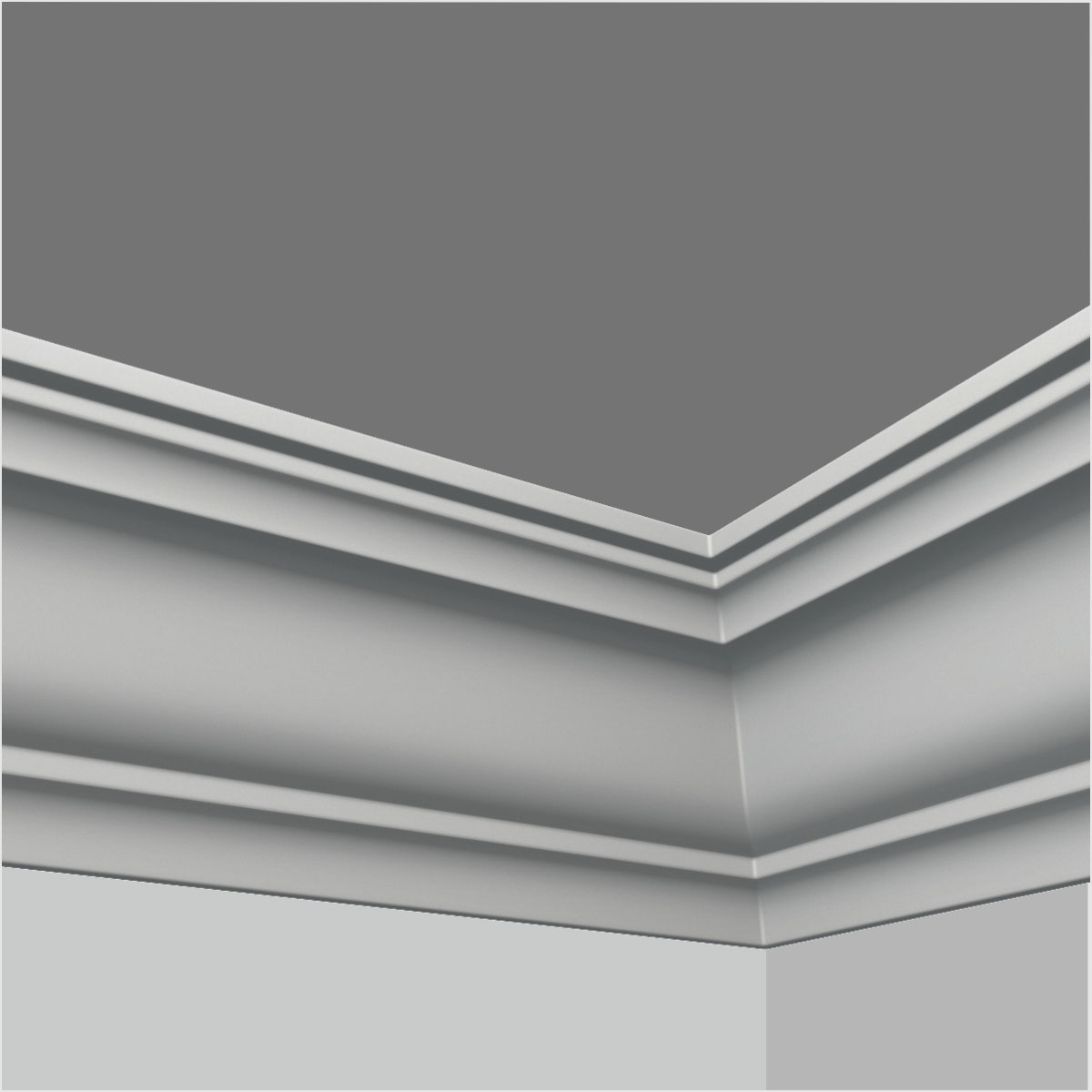 Polyurethane simple ceiling moulding